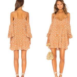 Tularosa x revolve Hattie dress is latte 0572